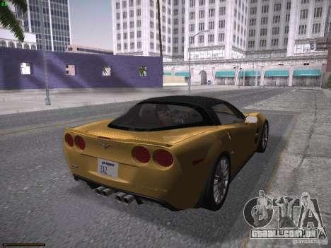 Chevrolet Corvette ZR1 para GTA San Andreas esquerda vista
