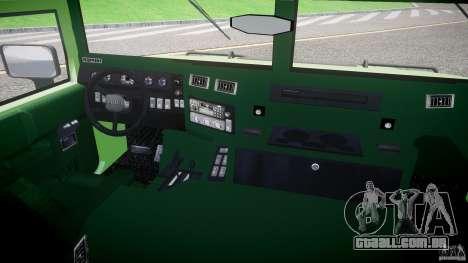 Hummer H1 para GTA 4 vista de volta