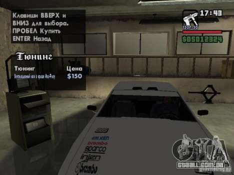 Ultra Elegy v1.0 para GTA San Andreas interior