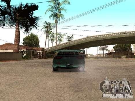 Mazda RX-7 Pro Street para GTA San Andreas traseira esquerda vista