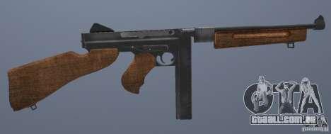 M1 Thompson para GTA San Andreas por diante tela