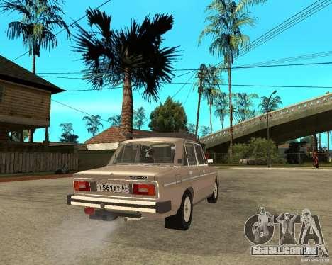VAZ 21065 para GTA San Andreas traseira esquerda vista