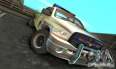 Dodge Ram 1500 POLICE 2008 para GTA San Andreas esquerda vista