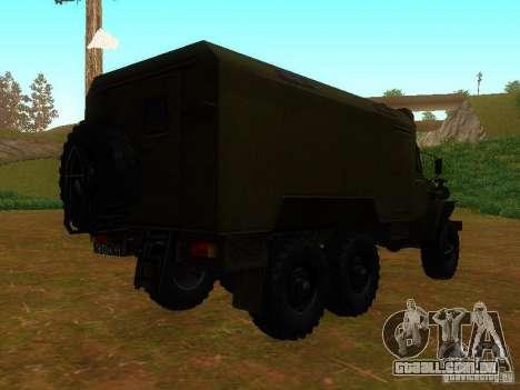 Ural 4320 Kung para GTA San Andreas vista direita
