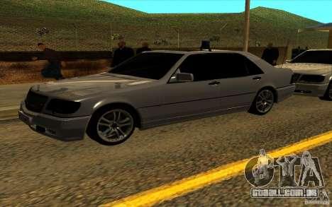 Mercedes-Benz S600L 1998 para GTA San Andreas vista superior