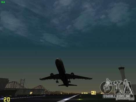 Boeing 767-400ER Delta Airlines para vista lateral GTA San Andreas