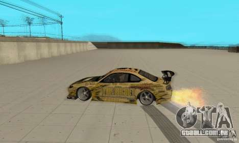 Nissan Silvia S15 Top Secret para GTA San Andreas vista traseira