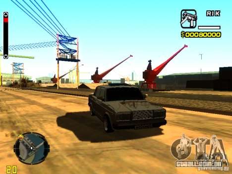 Vaz-2107 para GTA San Andreas vista traseira