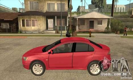 Mitsubishi Lancer para GTA San Andreas esquerda vista