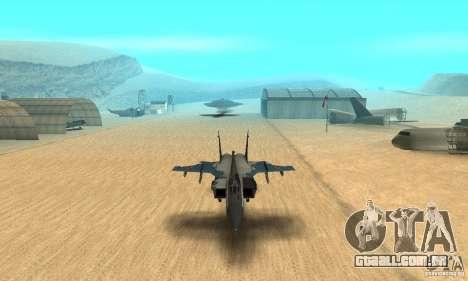 MiG-31 Foxhound para vista lateral GTA San Andreas