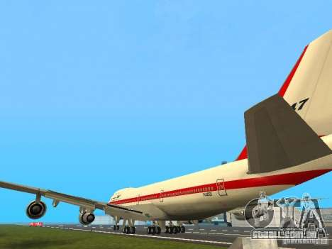 Boeing 747-100 para GTA San Andreas traseira esquerda vista