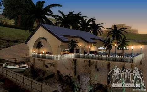 Clube de praia para GTA San Andreas por diante tela