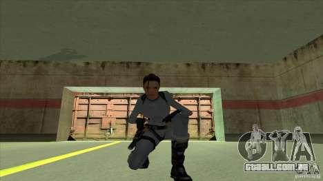 Lara Croft para GTA San Andreas quinto tela