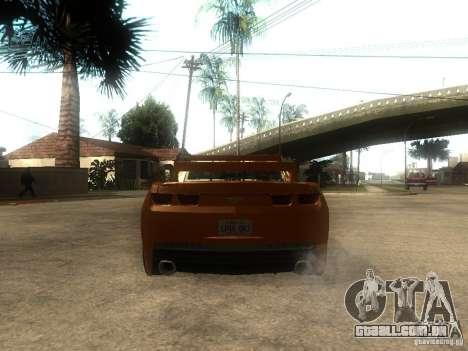 Chevrolet Camaro SS Dark Custom Tuning para GTA San Andreas traseira esquerda vista