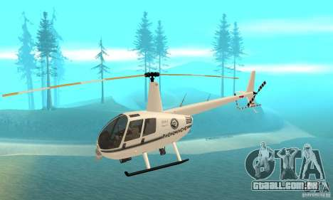 Robinson R44 Raven II NC 1.0 branco para GTA San Andreas