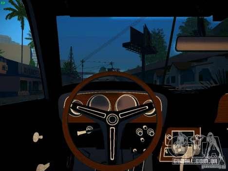 Ford Mustang Boss 429 1970 para GTA San Andreas vista traseira