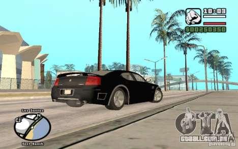 Dodge Charger SRT8 para GTA San Andreas vista superior