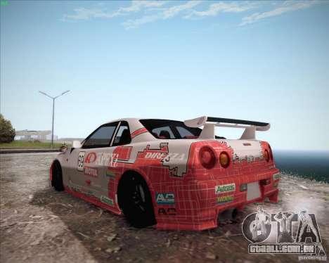Nissan Skyline Z-Tune v2.0 para GTA San Andreas vista traseira