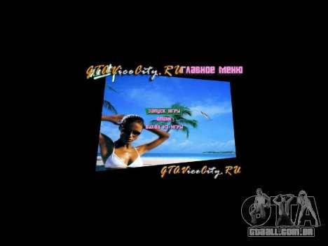 Fundo do menu Spiaggia para GTA Vice City terceira tela