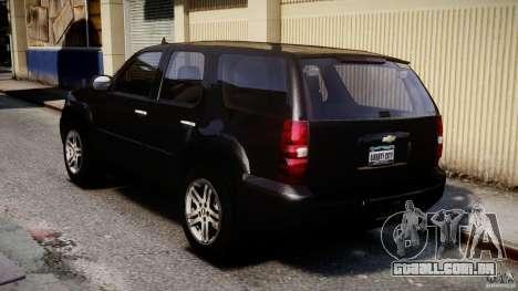 Chevrolet Tahoe 2007 para GTA 4 traseira esquerda vista