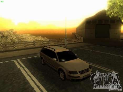 Vw Passat B5.5 Wagon 1.9 TDi para GTA San Andreas vista direita