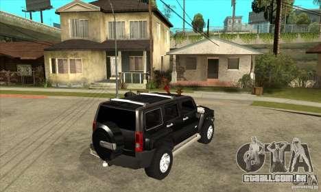 Hummer H3 para GTA San Andreas vista direita