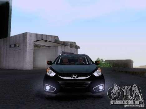 Hyundai ix35 para GTA San Andreas vista interior