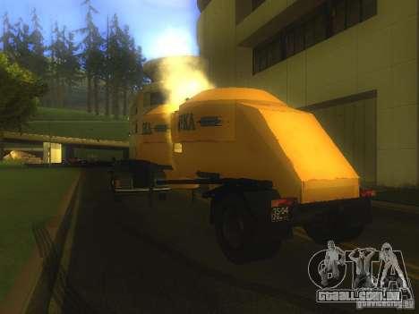 Reboque Mukovoz K4-AMG para GTA San Andreas traseira esquerda vista
