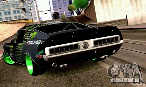 Shelby GT500 Monster Drift para GTA San Andreas esquerda vista