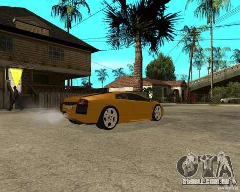 Lamborghini Murcielago para GTA San Andreas traseira esquerda vista