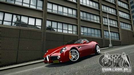 Alfa Romeo 8C Spyder para GTA 4 vista direita