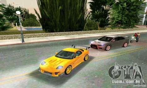 Mazda RX7 RE-Amemiya para GTA Vice City vista traseira esquerda