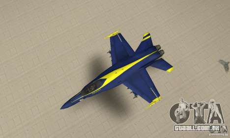 Blue Angels Mod (HQ) para GTA San Andreas vista direita