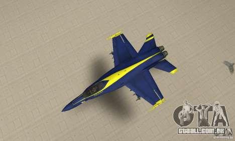 Blue Angels Mod (HQ) para GTA San Andreas vista direita