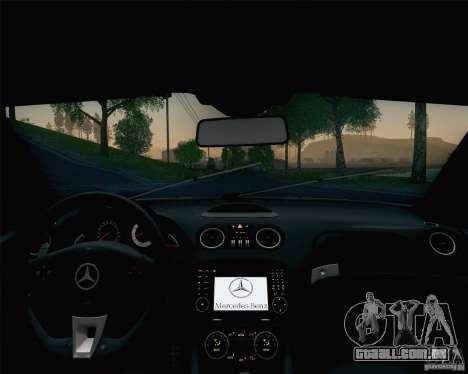 Mercedes-Benz SL65 AMG Black Series para GTA San Andreas interior