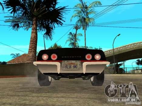 Chevrolet Corvette 1968 Stingray para GTA San Andreas