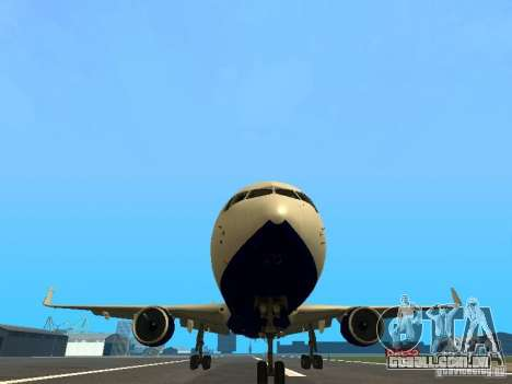 Boeing 767-300 British Airways para vista lateral GTA San Andreas