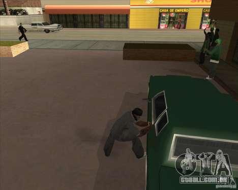 Car in Grove Street para GTA San Andreas twelth tela