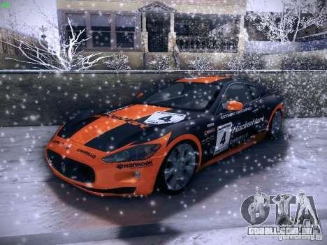 Maserati Gran Turismo S 2011 V2 para vista lateral GTA San Andreas