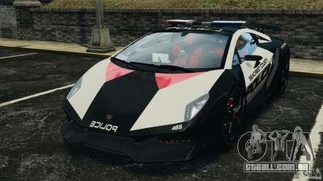 Lamborghini Sesto Elemento 2011 Police v1.0 ELS para GTA 4 esquerda vista