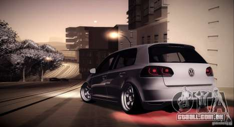 Volkswagen Golf VI 2010 Stance Nation para GTA San Andreas vista superior
