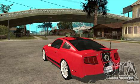 Ford Shelby GT500 Supersnake 2010 para GTA San Andreas traseira esquerda vista