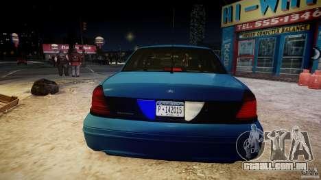 Ford Crown Victoria Detective v4.7 [ELS] para GTA 4 interior