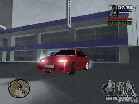 VAZ 2115 TUNING para GTA San Andreas vista traseira