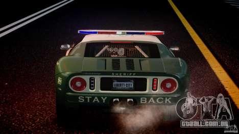 Ford GT1000 Hennessey Police 2006 [EPM][ELS] para GTA 4 rodas