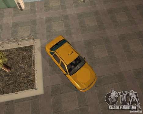 Daewoo Nexia Taxi para GTA San Andreas vista direita