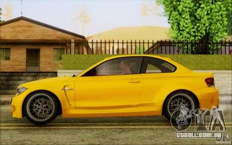 BMW 1M Coupe para GTA San Andreas traseira esquerda vista