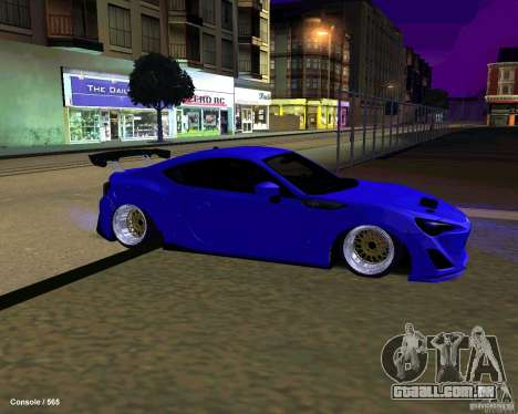 Scion FR13 para GTA San Andreas vista inferior
