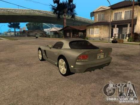 Dodge Viper Coupe 2008 para GTA San Andreas esquerda vista