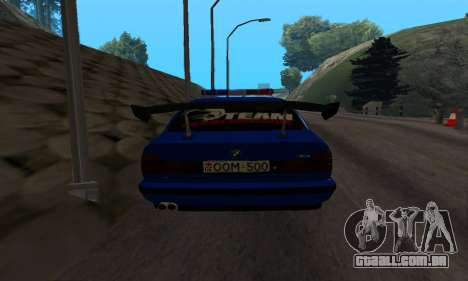 BMW M5 POLICE para GTA San Andreas vista direita